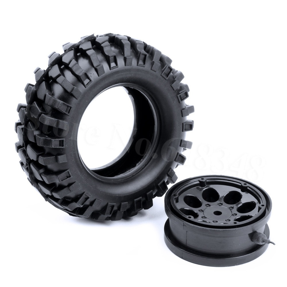 4PCS 1.9 Air Inflated Beadlock Wheel Rims & Tires OD 108mm with Inflator Pump for 1/10 Scale RC Rock Crawler Truck Tyre