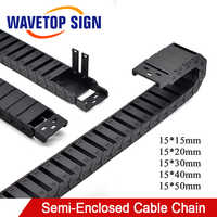Cable Chain Semi-Enclosed 15*20 30 40 50mm Wire Transmission Carrier Plastic Drag Towline For 3D Printer CNC Engraving Machine