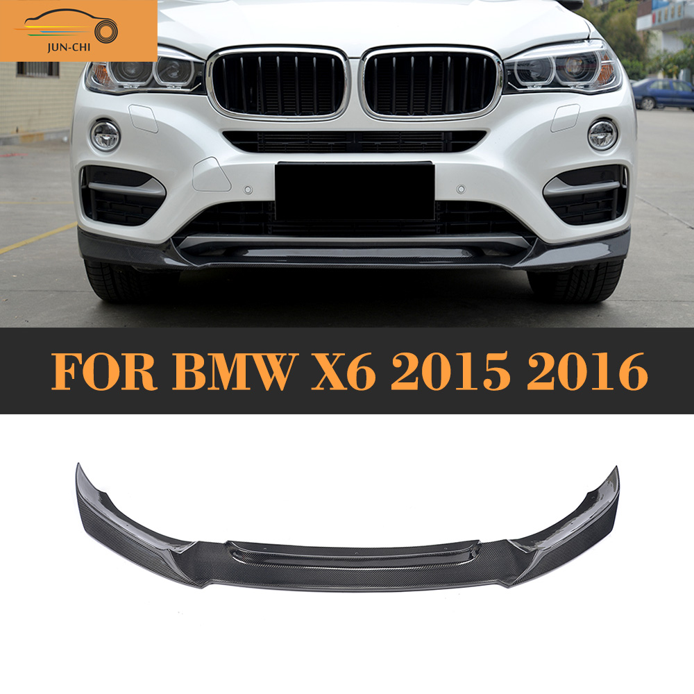 Carbon fiber front bumper spoiler lip for bmw x6 suv 4 door 2015 2016