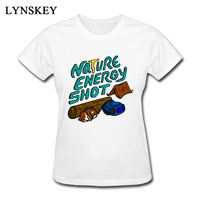 LYNSKEY Summer Autumn Women Printed O Neck T Shirt Nature Energy Shot Lady Casual 100 Cotton