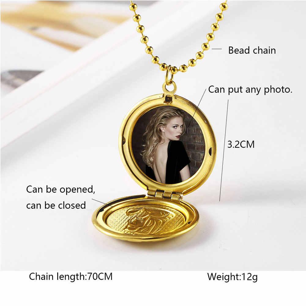 OUFEI ステンレス鋼ジュエリー女性のための母の日のギフトフォトフレームネックレス卸売ロットバルクアクセサリーファッションジュエリー