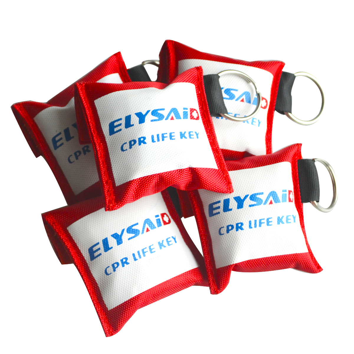 70pcs Professional First Aid CPR Breathing Mask W/ Latex Gloves Protect Rescuers Artificial Respiration With One-way Valve Tools