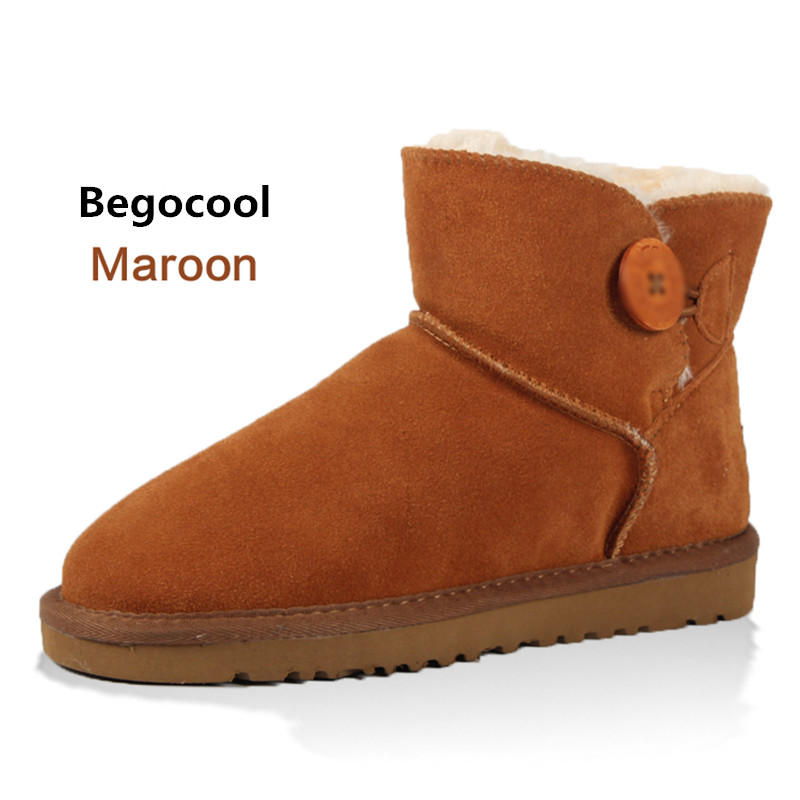 Begocool 2017 Women Boots Warm Winter Snow Boots Suede Ankle Boots Female Thick Plush Inside Shoes Botas Mujer Fur Australia pwb 1259 1 power board