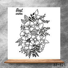 Beautiful flowers Transparent Clear Stamps DIY Scrapbooking Album Card Making Decoration Embossing Stencil