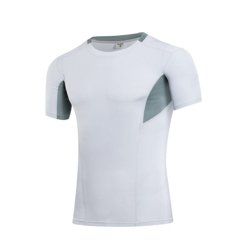 3966b5f6cc Men Athletic Apparel Sport Patchwork Print T-Shirt Quick Dry Short Sleeve  Top Tee