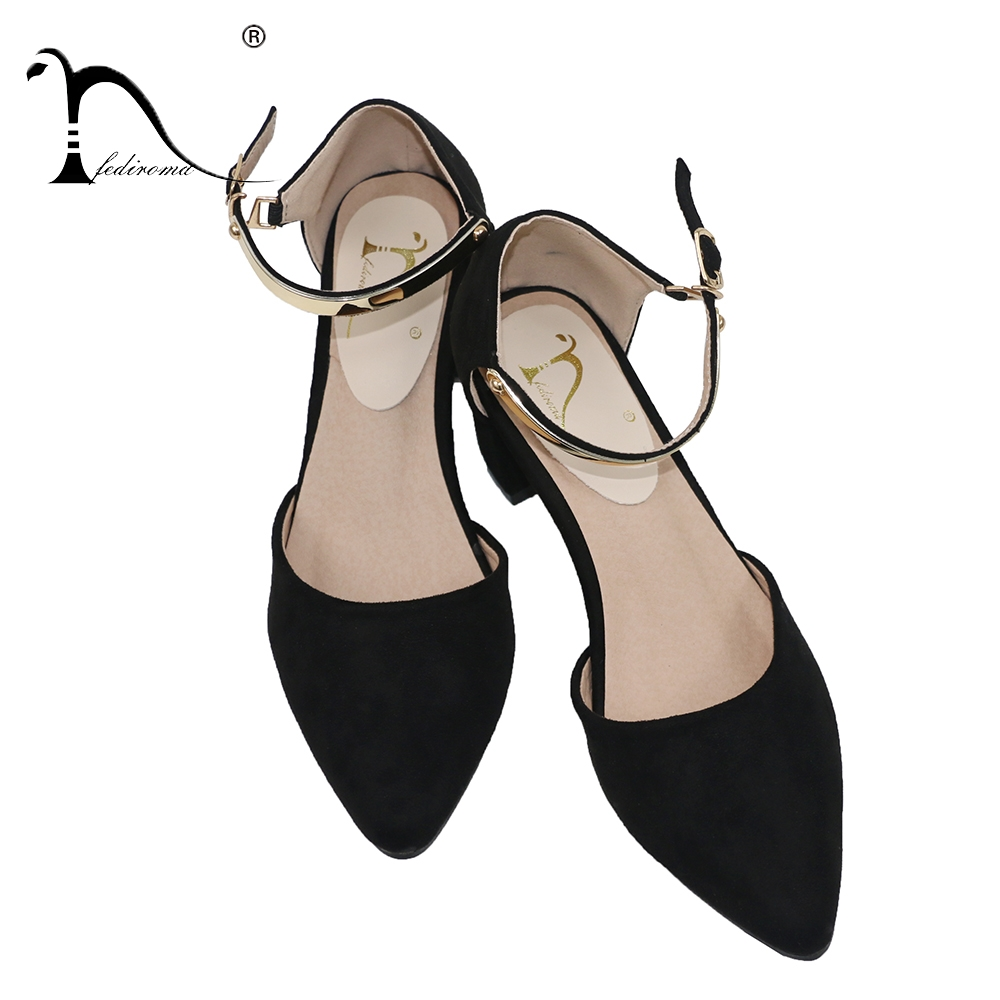 FEDIROMA Mary Janes Shoes Woman Suede Leather Pointed Toe Elegant High Heel Shoes Pumps Women New Arrive 5.5CM High Heels