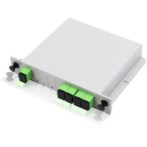 Image 1 - PLC 1X4 PLC Splitter Fiber Optical Box  PLC Splitter box FTTH PLC Splitter with SC/APC connector