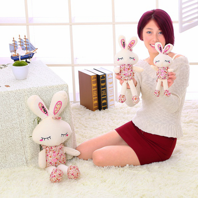 Cute Toy Bunny in Floral Clothes 2