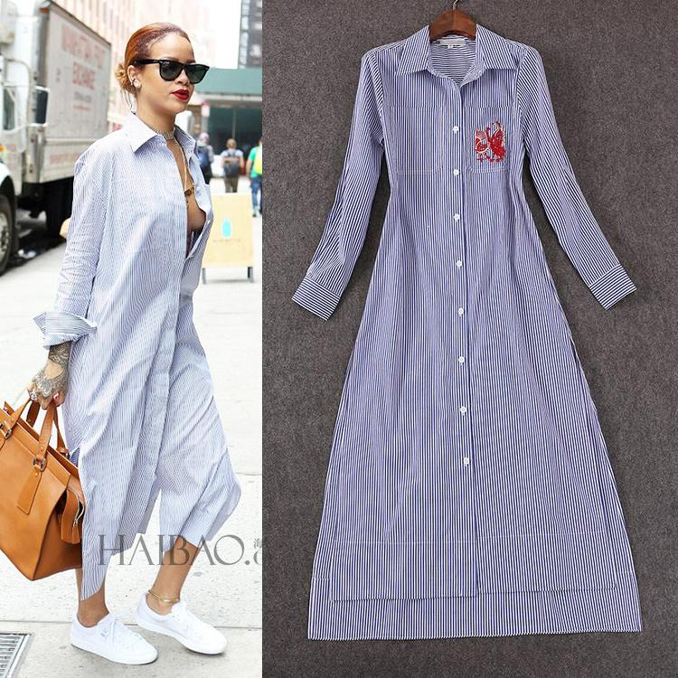 100%Cotton!Top Quality New Spring Summer Long Coats 2016 Women ...