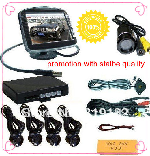 mirror monitor parking sensor/ 3.5 car monitor +back up camera+ parking sensor for car safe video reverse parking system