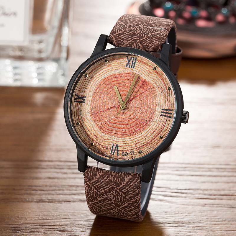 Buy new 2017 wood retro women casual watches brand vintage leather ladies for Casual watches