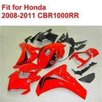 Литья под давлением настроить обтекатель комплект для Honda CBR1000 RR 2008 2009 2010 2011 CBR1000RR 08 09 10 11 Красный Черный обтекатели комплект df32
