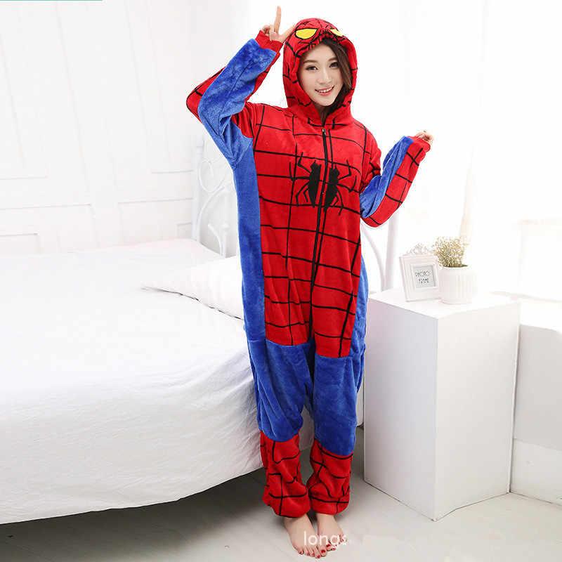 пижама-женская Пижамы для девочек мультфильм пижамы Для женщин пижамы  фланелевые Мультфильм Супермен Бэтмен Человек 220274dcead2c