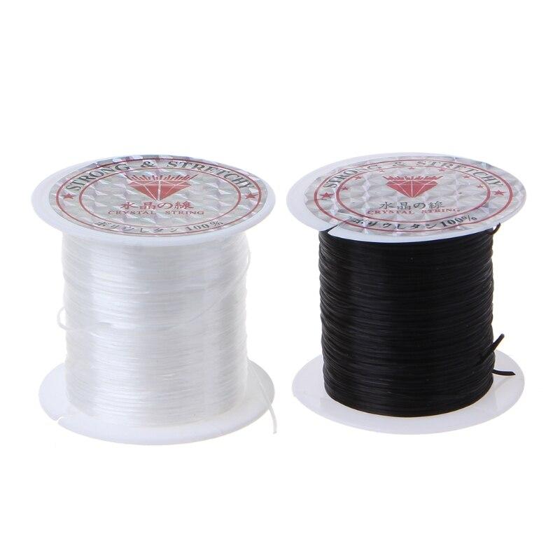 BULK 10 Roll elastic cord 0.8mm clear 10m