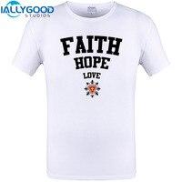 Fede Speranza Amore Fresco Design T Shirt Nuova Estate di Arrivo Manica corta Magliette Casual Cotone Stampato Plus Size Tee Shirts S-6XL