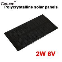 Portable Solar Generator Solar Charger Pane Solar Panel Solar Light Waterproof Outdoor 2W 6V Polysilicon DC Output