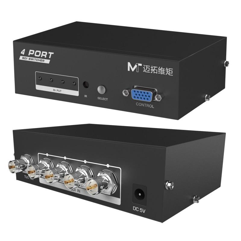 MT-VIKI 4 Port SDI Switch Video Recorder Camera Selector IR Remote Control SD-SDI HD-SDI 3G-SDI Compatible 1080P  SD401