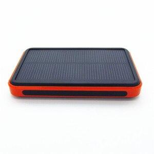 Image 2 - Batterie solaire portable étanche réel 20000mAh chargeur de batterie externe double USB polymère lampe extérieure powerbank universel