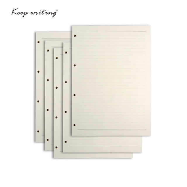 5 x 36 sheets a4 filler paper with 4 holes organizer inner papers
