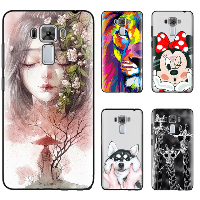 hot sale online 5c8fe b3222 US $1.84 |New Arrival Phone Case For Asus Zenfone 3 Laser ZC551KL 5.5 inch  Fashion Design Art Painted TPU Soft Case Free Shipping-in Fitted Cases from  ...