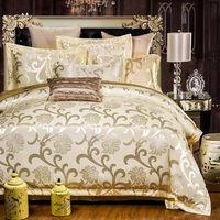 Europe Luxury Bedding Set 4pcs Jacquard Bedspread Quality Duvet Cover Double Bed Sheet Pillowcases Silk Cotton Blend bed cover