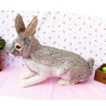 Simulation rabbit polyethylene&furs rabbit model funny gift about 44cmx15cmx35cm