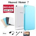 """Para huawei honor bgo-dl09 proteção shell glória chang jogar plana versão LTE tablet shell caixa conjunto de 7 """"caso tampa inteligente"""