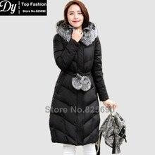 Winter Jackets For Women Fashion Slim Down Cotton Parka Women's Winter Jacket Coat Female Adjustable Waist Fur Hooded Jacket