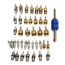 Kit Valve Cores Auto Oil resistant R12 R134A AC Schrader With Remover Air Conditioning Water tightness
