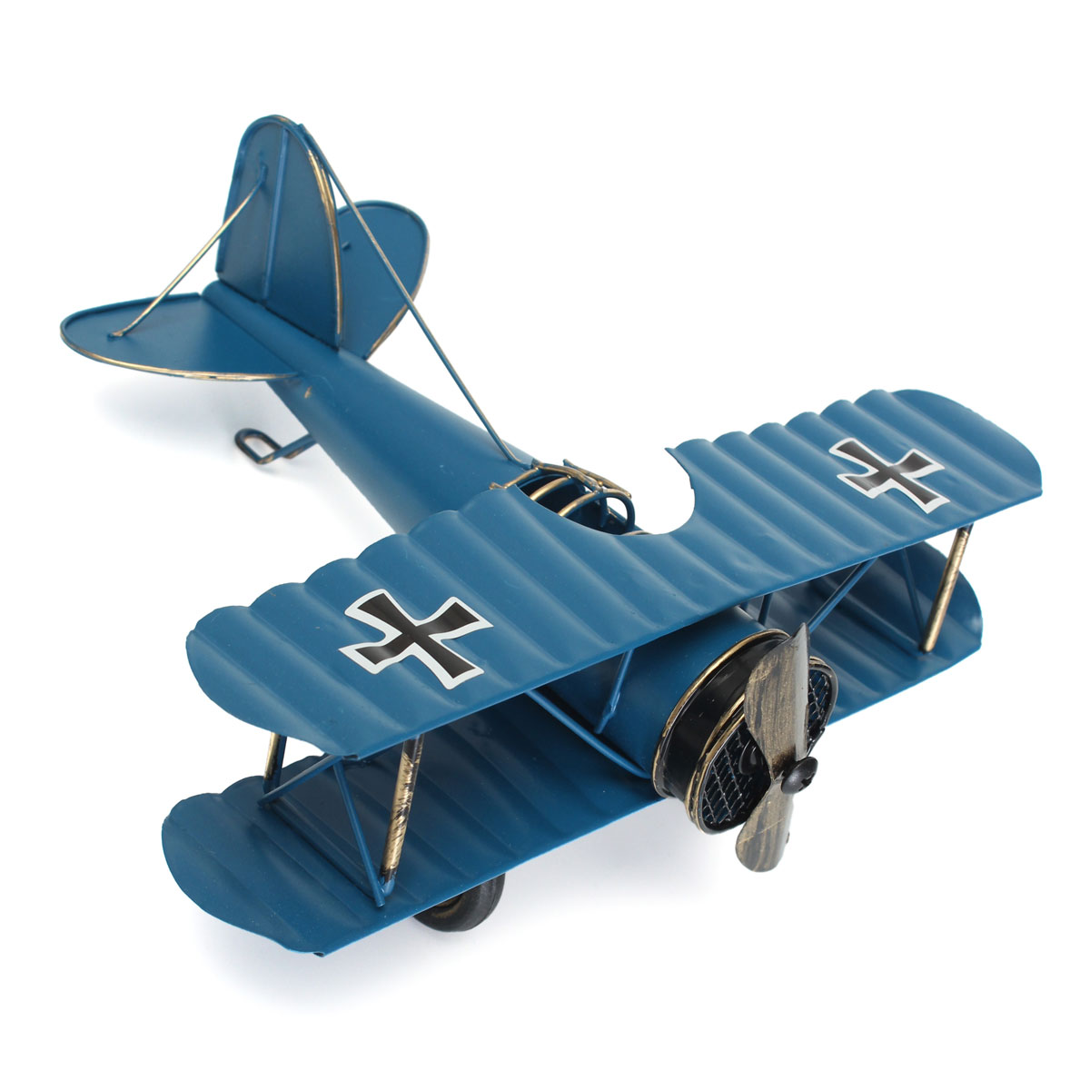 Diy Vintage Large Retro Blue Plane Airplane Aircraft