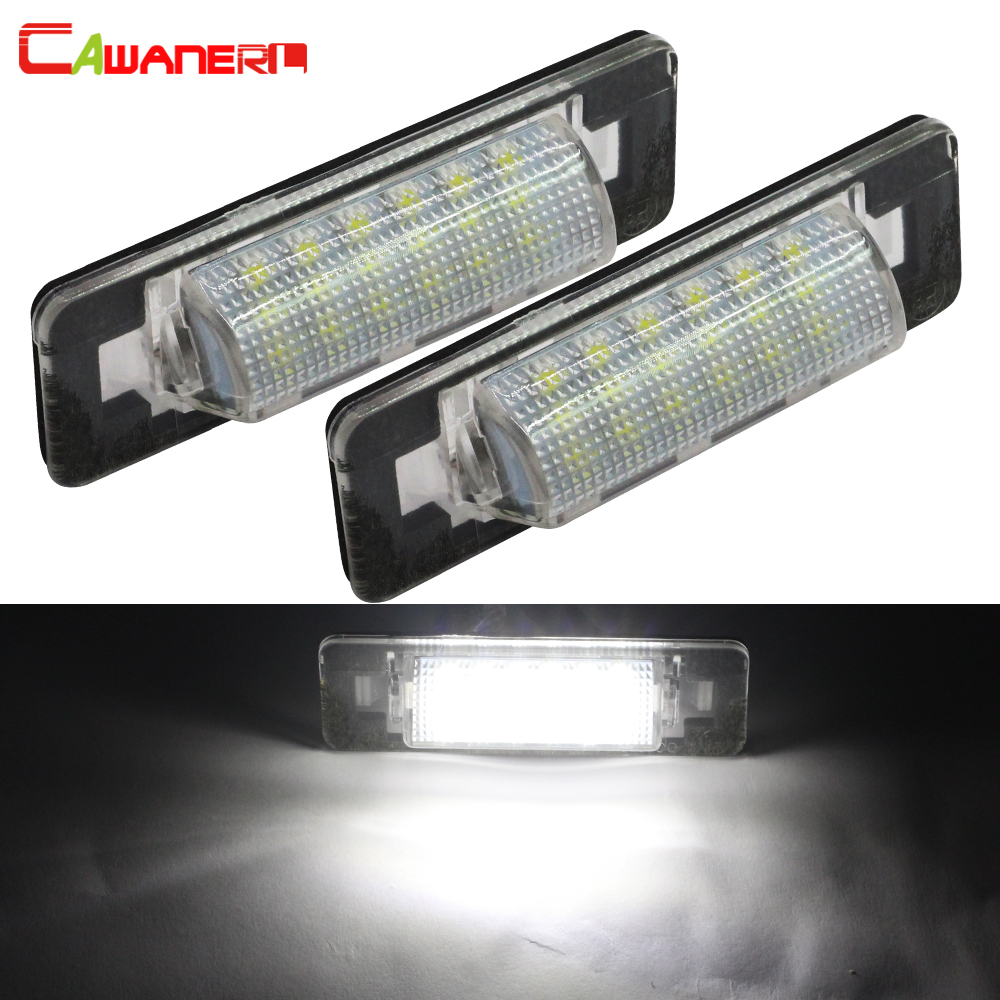 Cawanerl For Mercedes-Benz W210 <font><b>W202</b></font> AMG 4 Door 2 X Car Styling No Error <font><b>LED</b></font> Bulb Number License Plate Light White 12V image
