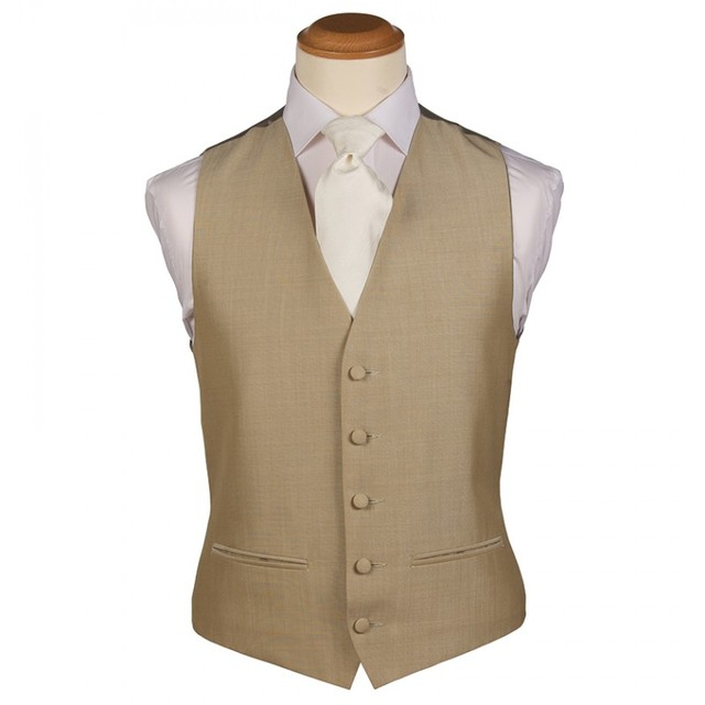 Gold Waistcoat Men for Wedding Men Suits New Fashion 5 Buttons Mens Suits wedding groom Vest