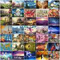 27 Types 1000 Pieces Children Jigsaw Paper Puzzle Hot Selling Children Gift picture puzzles