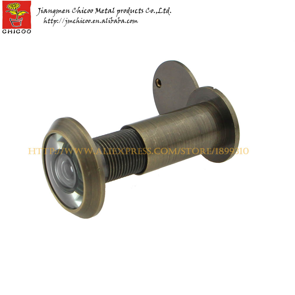 Buy 200 degree antique brass peephole door viewer antique brass monitor door - Antique peephole ...