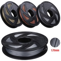 Best Promotion Aluminum/Bronze/Copper Color 1.75mm 0.5kg PLA Filament For RepRap 3D Printer Materials High Quality