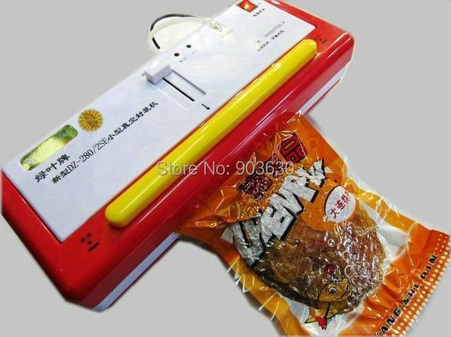 все цены на 220V/110V Sinbo Household Plasitc Bag Food Vacuum Sealing Sealer Machine DZ-280/2SE dry or wet environment avaible онлайн