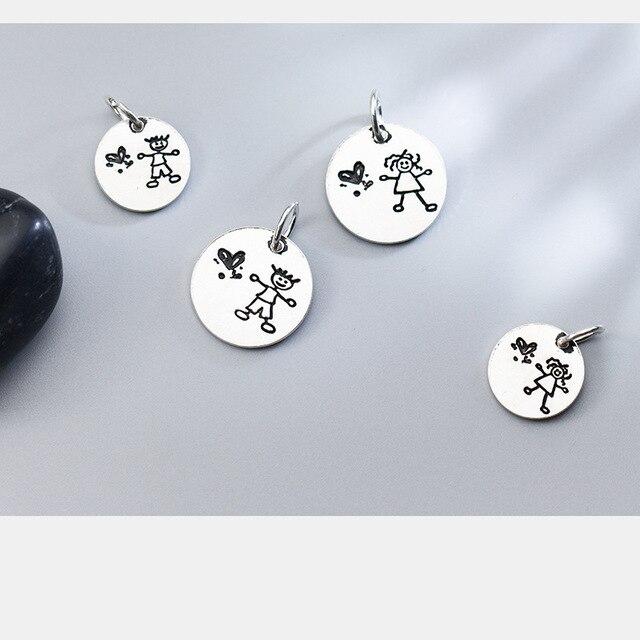 Фото винтажные круглые шармы бусины uqbing из стерлингового серебра