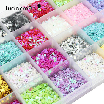 Lucia crafts Mixed 24 Colors Flake Confetti   Rainbow Cup Sequin Paillette For  Wedding DIY Nail Art  Decor D0204 2