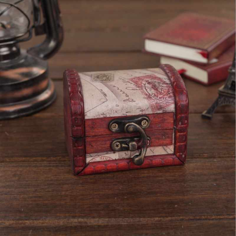 Explosion Retro Jewelry Small Wooden Box Classic Hot Small Storage Storage Box Gift Creative Candy Box Holiday Gift