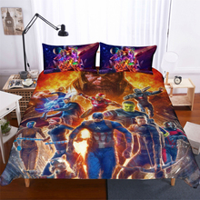 Marvel The Avengers  3d bedding set Duvet Covers Pillowcases Captain America iron comforter sets bed cover linen