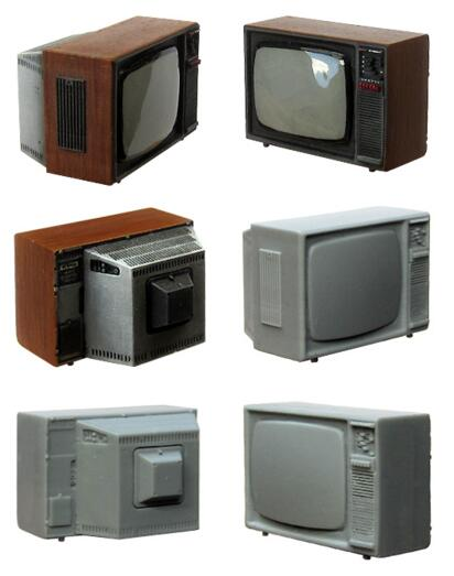 1/35 Modified Parts Old TV Resin Kits 1 Pc
