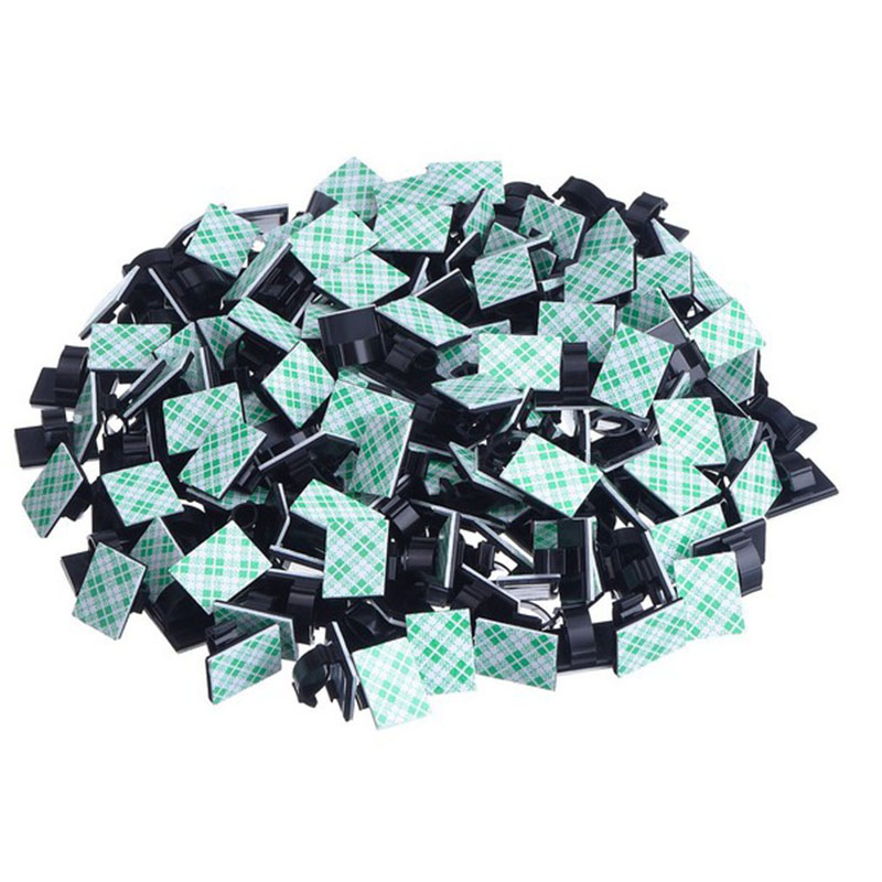 20pcs <font><b>Adhesive</b></font> <font><b>Car</b></font> <font><b>Cable</b></font> <font><b>Clips</b></font> <font><b>Cable</b></font> Winder Drop Wire Tie Fixer Holder Cord Organizer Management Desk <font><b>Cable</b></font> Tie Clamps image