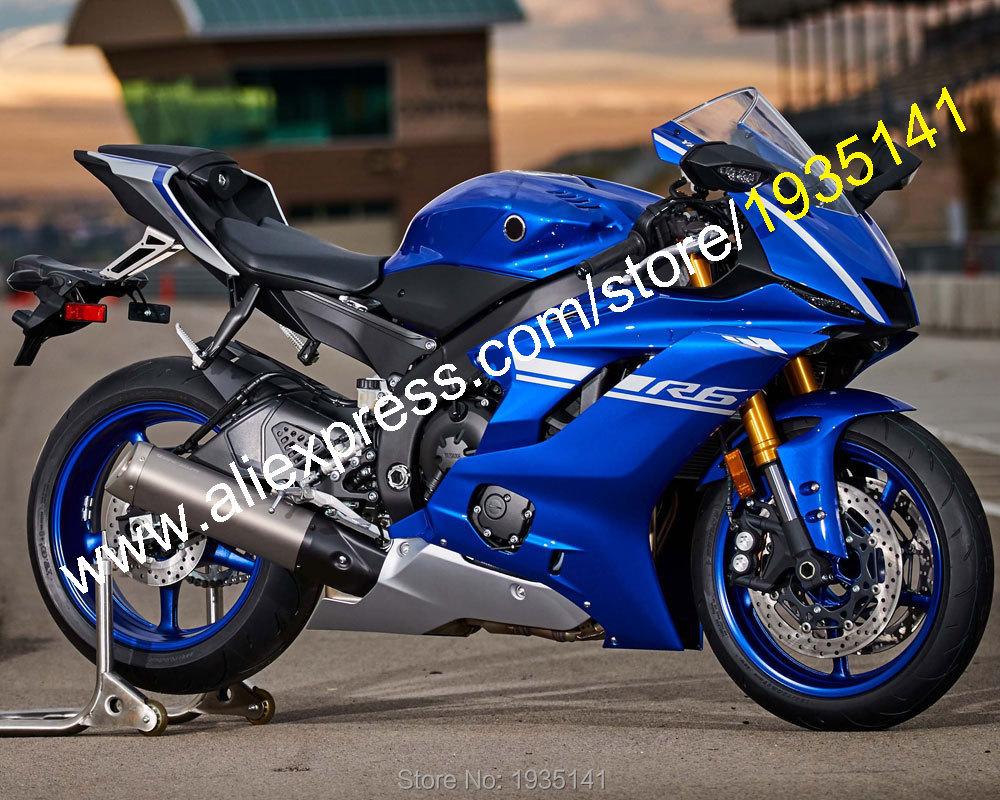 Offres spéciales, pour Yamaha YZF600 R6 2017 2018 YZF-R6 17 18 carrosserie bleu brillant pièces de rechange carénage moto (moulage par Injection)