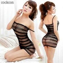 Female Erotic Porn Sex Costumes Lingerie Net nightie Nightdress Nightwear Crotch Dress Body Women Intimates