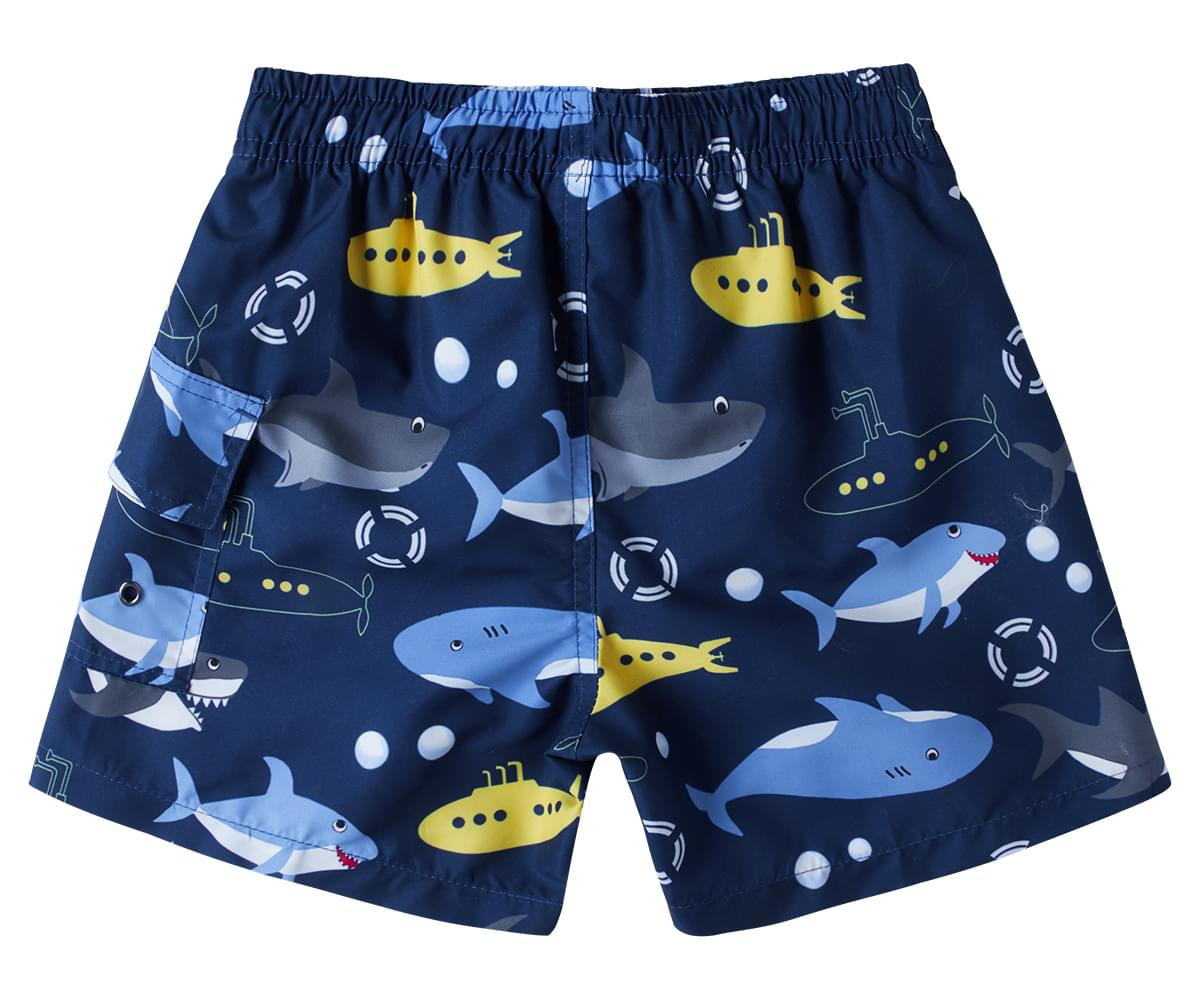 Fast Drying Beach Swim Trunks Pants Party Like a Pineapple Blue Kids Boys and Girls