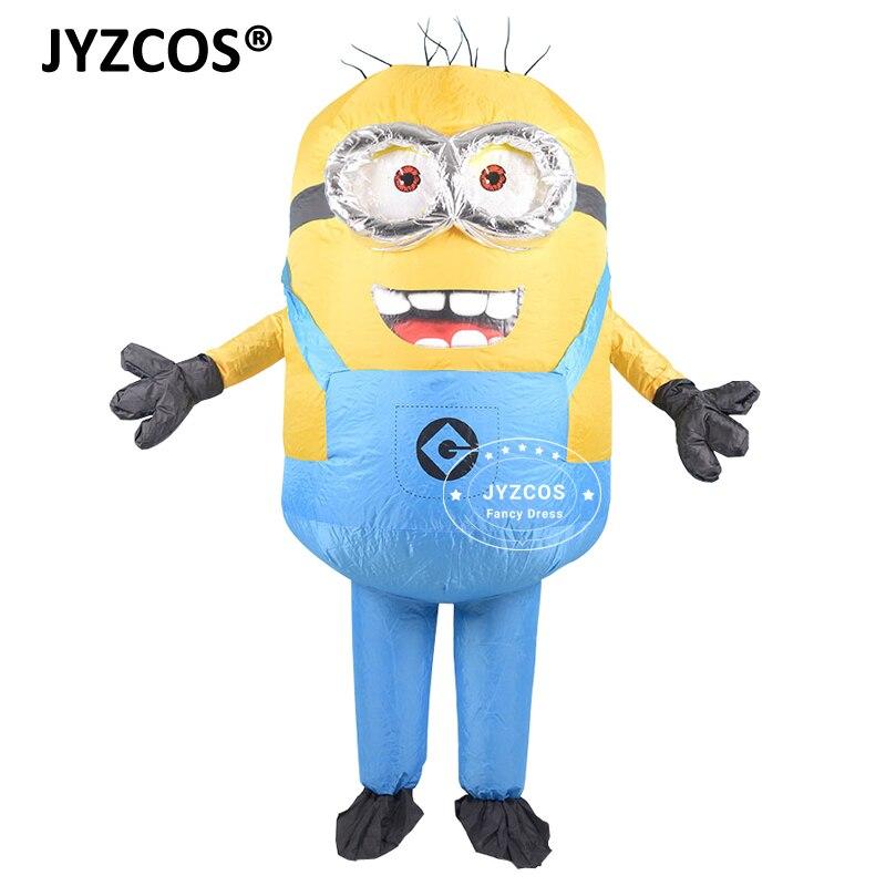 JYZCOS взрослый надувной костюм Миньона Хэллоуин Карнавал Вечеринка Косплей Костюм Двойные Глаза Миньоны маскоты нарядное платье наряды