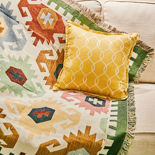 Aliexpress Weihnachten Jacquard Baumwolle Sofa Decke Fr