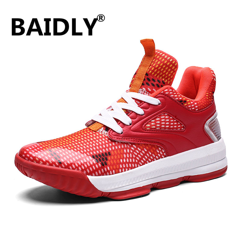New Men's Basketball Shoes Zapatillas Hombre Deportiva Breathable Men Ankle Boots Basketball Sneakers Athletic Shoes Big Size image