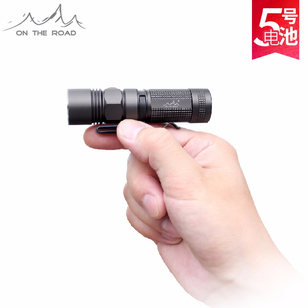ON THE ROAD M5 Mini LED Flashlight Torch For Household Camping Hiking Professional Waterproof  AA Flashlight