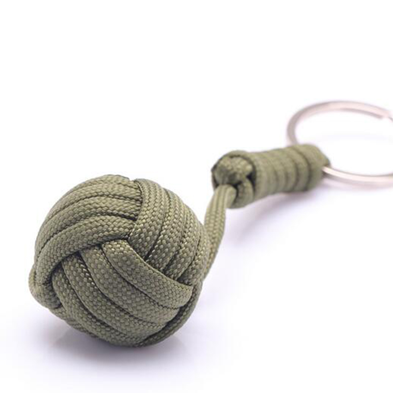 10 Colors Outdoor Security Protection Monkey Fist Steel Ball For Girl Bearing Self Defense Survival Key Chain Broken Windows self defense aluminum alloy outdoor save first aid drug medicine kit small gallipot cartridge key chain fc